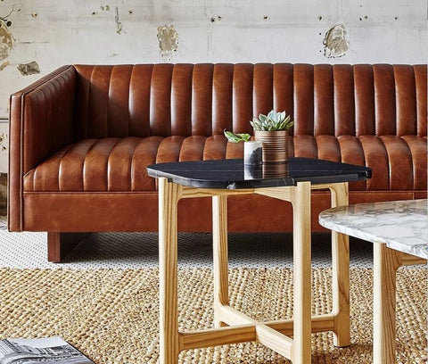 Wallace Leather Sofa - Gus Modern