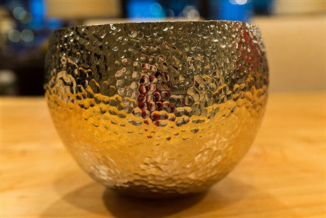 Large Hammered Nickel Bowl - Dimond Home