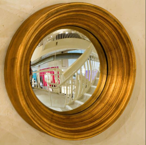 Silas Medium Gold Mirror - Howard Elliott