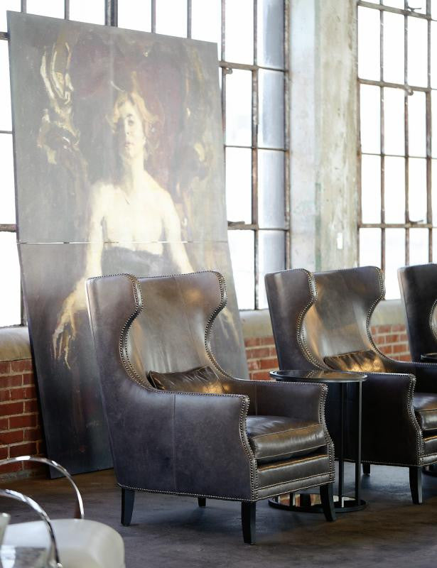 Kingston Leather Wing Chair - Bernhardt Furniture