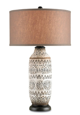 Intarsia Table Lamp - Currey & Company