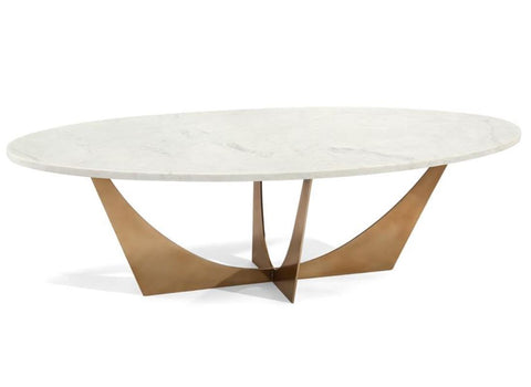 Marble And Brass Cocktail Table - John-Richard