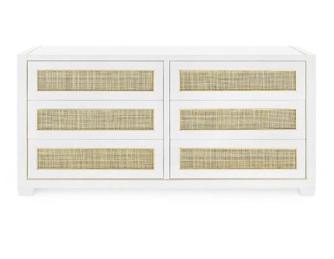 Karen Extra Large 6-Drawer Cabinet, White - Bungalow 5