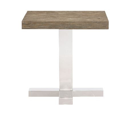 Pelham End Table Wood Top & Base - Bernhardt Furniture
