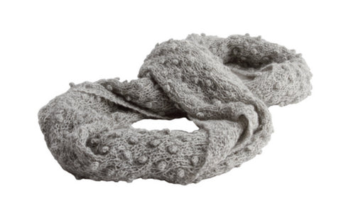 Aelita Knit Scarf Light Grey - Animana