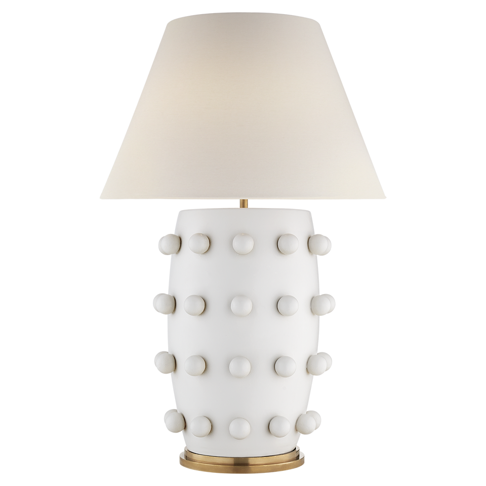 Linden white table lamp visual comfort