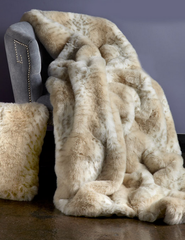 Lynx Limited Faux Fur Throw - Fabulous Furs