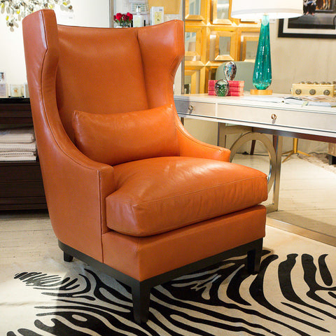 Pascal Leather Chair - Bernhardt Furniture