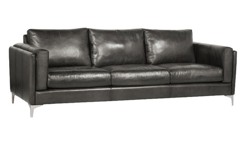 Malcolm Leather Sofa - Bernhardt Furniture