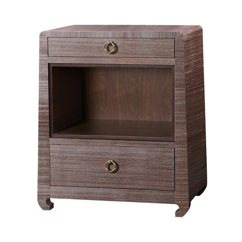 Ming Two Drawer Side Table, Brown - Bungalow 5
