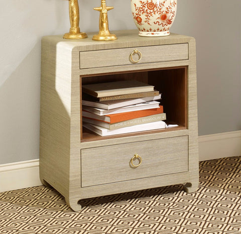 Ming Two Drawer Side Table, Natural - Bungalow 5