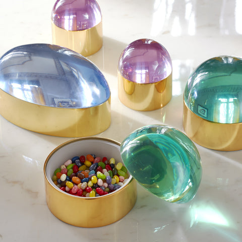 Medium Green Globo Box - Jonathan Adler