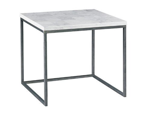 Nolan Side Table, White Stone - Modern Living by Lillian August