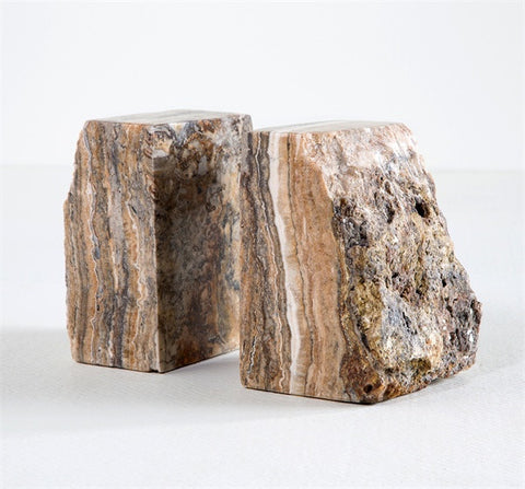 Cascades Onyx Bookends - Interlude Home