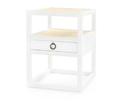 Polo One-Drawer Side Table, White - Bungalow 5