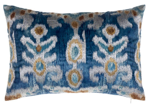 Serino Embroidered Velvet Pillow - Cloud 9