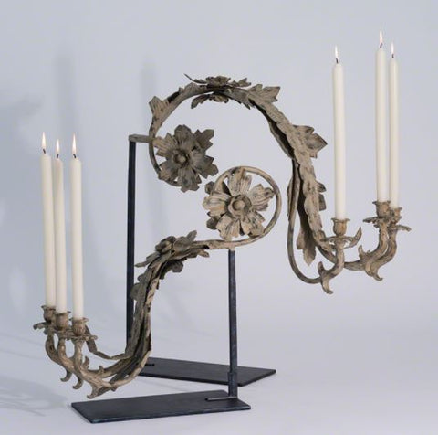 Seville Relic Candle Holder-Clay/Verdi - Studio A