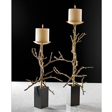 Small Twig Brass Candle Holder - Global Views