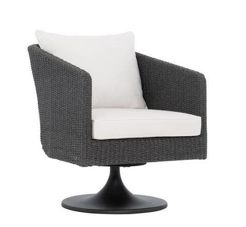 Newport Woven Rope Swivel Chair - Bernhardt Exteriors
