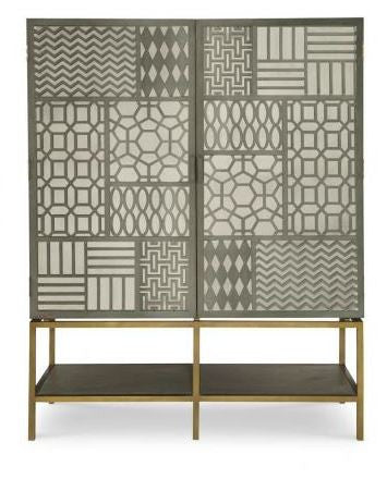 Tito Tall Cabinet w Mirror - Mr. Brown London