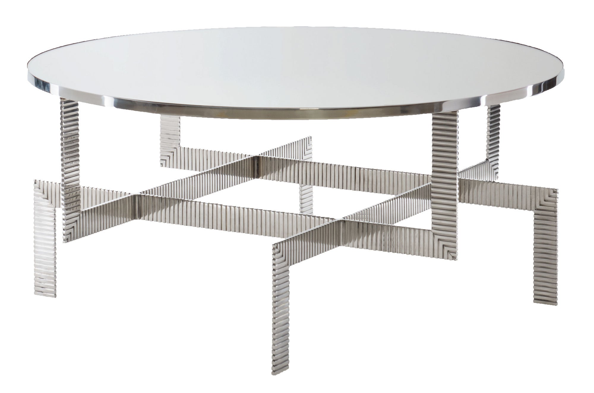 tyra round cocktail table bernhardt interiors luxe home