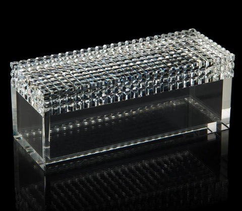 Square Cut Crystal Box - John-Richard