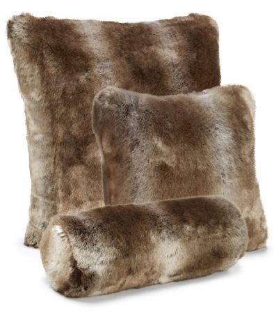 Timber Wolf Faux Fur Pillow 24x24 - Fabulous Furs