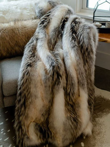 Limited Edition Tundra Wolf Throw - Fabulous Furs