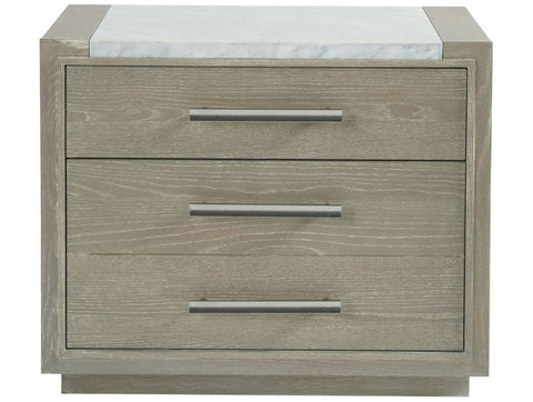 Zephyr Nightstand With Stone Top - Universal