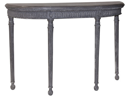 Demilune Carved French Console