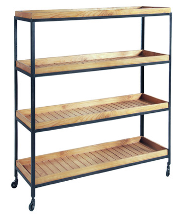 Industrial Trolley Bookcase