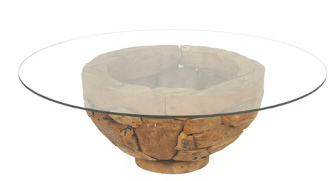 Ria Coffee Table, Natural Wax