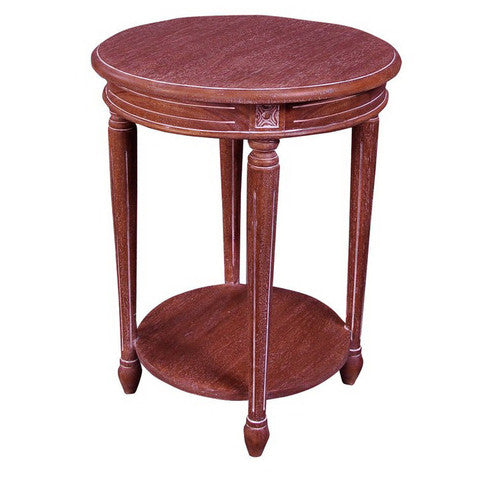 French Round End Table