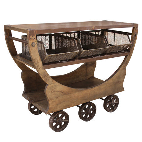 Hammond Iron Wood Trolley