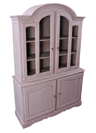 French Buffet and Hutch in Vintage White