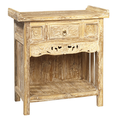 Zamora Console, Washed White