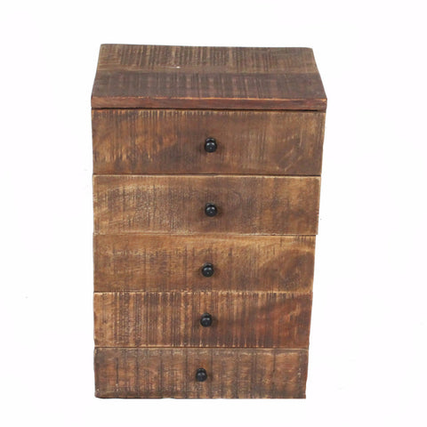 Nora Tabletop Chest of Drawers, Dark Natural