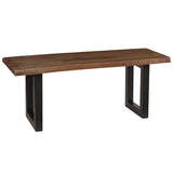 Nakashima Dining Bench, Dark Gray Wash