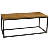 Burlington Iron & Wood Coffee Table Large, Rustic Gray Wash