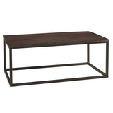 Burlington Iron & Wood Coffee Table Large, Dark Mahogany