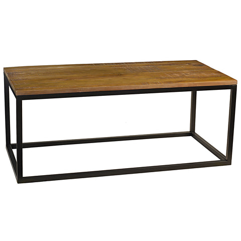 Burlington Iron & Wood Coffee Table Medium, Rustic Gray Wash