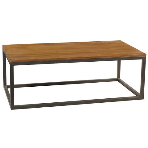 Burlington Iron & Wood Coffee Table Large, Rustic Honey