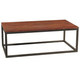 Burlington Iron & Wood Coffee Table Large, Rustic Tobacco
