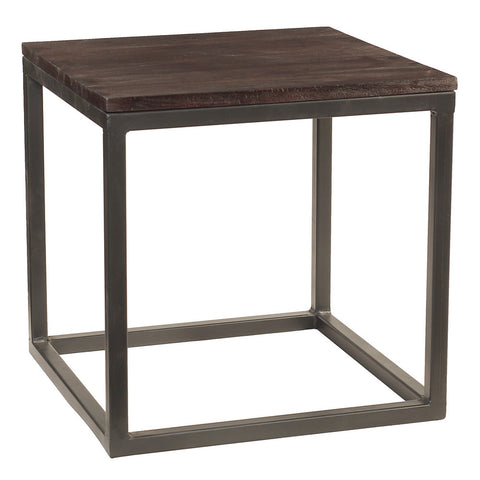 Burlington Iron & Wood End Table Large, Espresso