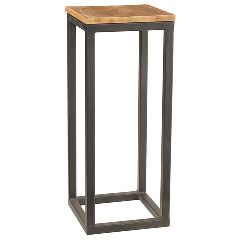"Burlington Iron & Wood Pedestal Table 29"", Rustic Honey"
