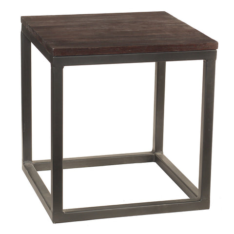 Burlington Iron & Wood End Table Medium, Espresso