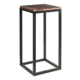 "Burlington Iron & Wood Pedestal Table 30"", Rustic Dark Gray Wash"