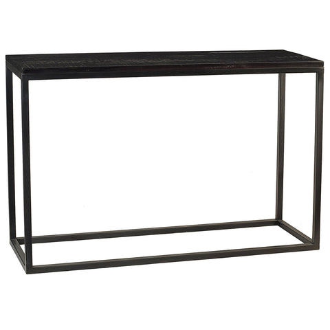 Burlington Iron & Wood Console Table Large, Rustic Espresso