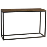 Burlington Iron & Wood Console Table Large, Rustic Gray wash