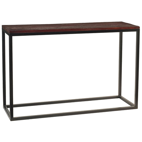 Burlington Iron & Wood Console Table Large, Rustic Tobacco